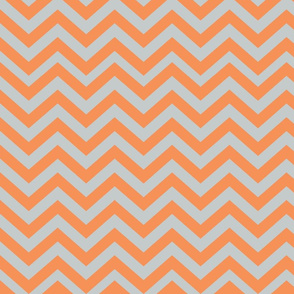 Light Gray and Orange Chevrons