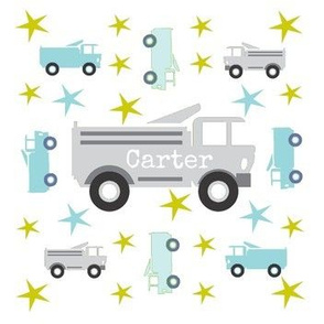 Truck star-gray  -personalized CARTER