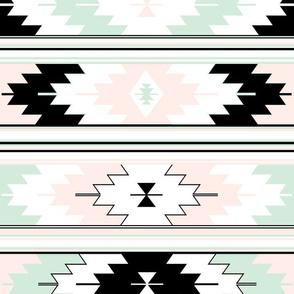 palest pink + mint kilim