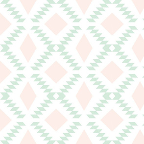 pale pink + mint diamond fall