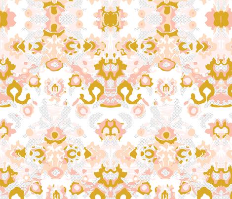 blush swiss dot jubilee // small fabric by ivieclothco on Spoonflower - custom fabric
