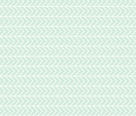 mint chevron // on the side fabric by ivieclothco on Spoonflower - custom fabric