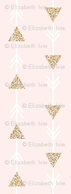 pale pink climbing arrows + gold sparkle v. I // small