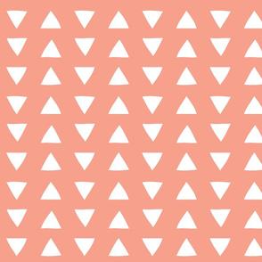 hand drawn triangles // geranium