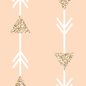 blush climbing arrows + gold sparkle v. I // small