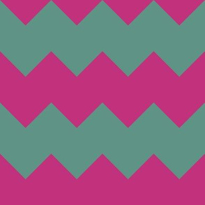 Christmas Chevron in Pink and Green