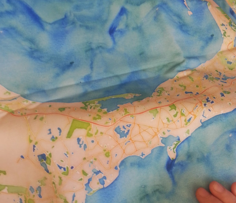 Cape Cod watercolor map design