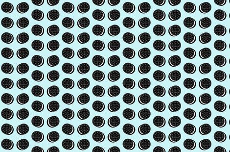 oreo cookies on light blue fabric by cityette on Spoonflower - custom fabric