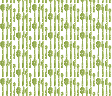 couverts_verts fabric by aliceandcodesigns on Spoonflower - custom fabric
