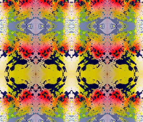 Exploding Paint Graffiti Print fabric by hrhsf-designs on Spoonflower - custom fabric