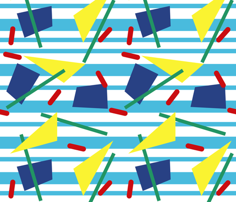 Postmodern Barracuda fabric by elliottdesignfactory on Spoonflower - custom fabric