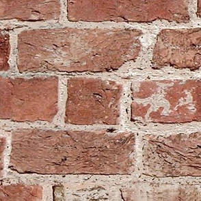 Antique Brick Fabric and Wallpaper