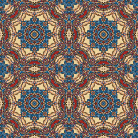 Illuminated Manuscript-blue and red doilies fabric by ninniku on Spoonflower - custom fabric