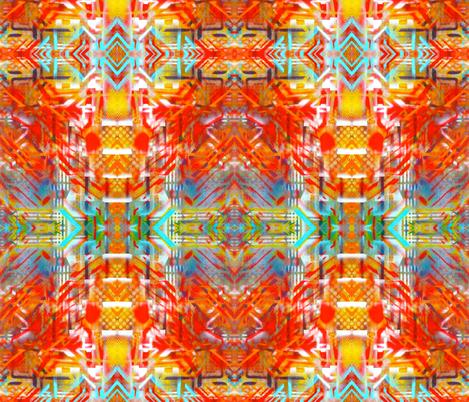 Orange Prism Graffiti Print fabric by hrhsf-designs on Spoonflower - custom fabric