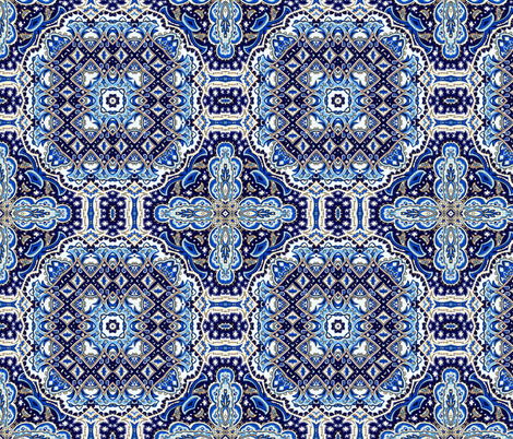 blue 5 fabric by kociara on Spoonflower - custom fabric