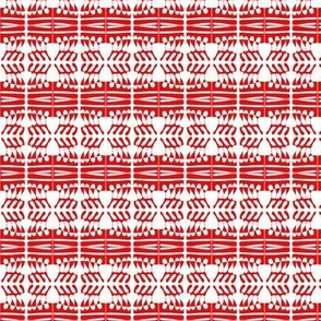 Woven Cloth Red White