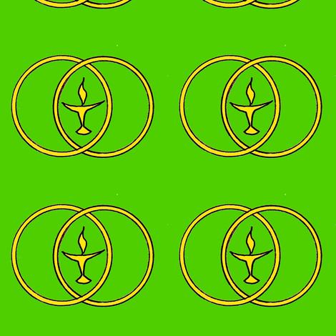 chalice 2 on green fabric by ingridthecrafty on Spoonflower - custom fabric