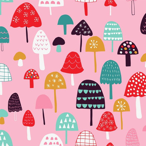 cheerful mushrooms
