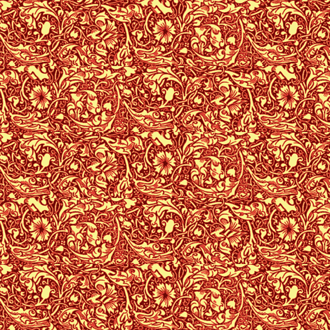 Rapunzel Cranberry fabric by amyvail on Spoonflower - custom fabric