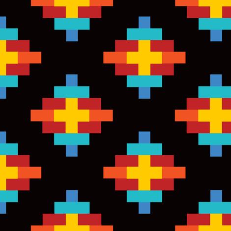 Southwest Sun Elements in Rainbow Mulit fabric by elliottdesignfactory on Spoonflower - custom fabric
