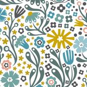 Nordic Suzani Floral (Winter)
