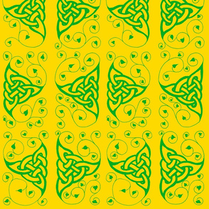 triknot leafy green gold