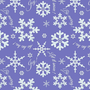 Let It Snow Periwinkle