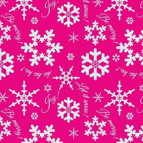Let It Snow Magenta