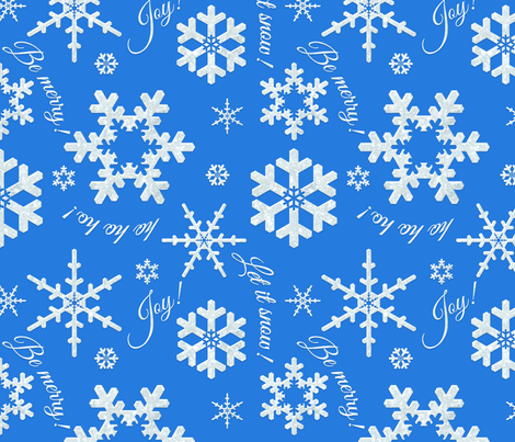 Let It Snow Brilliant Blue fabric by bags29 on Spoonflower - custom fabric