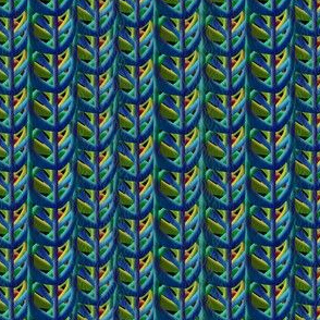 extreme closeup peacock