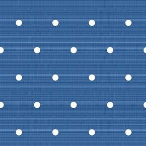 Sailor blue denim polka dots