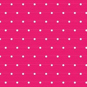 Smal Pink woven Polka Dots