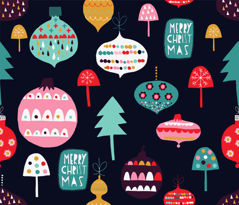 vintage ornaments fabric by sarabrezzi_design on Spoonflower - custom fabric