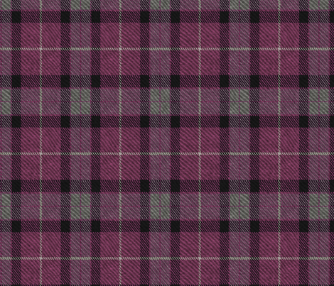 Classic Tartan in Aubergine and Cashmere fabric by willowlanetextiles on Spoonflower - custom fabric