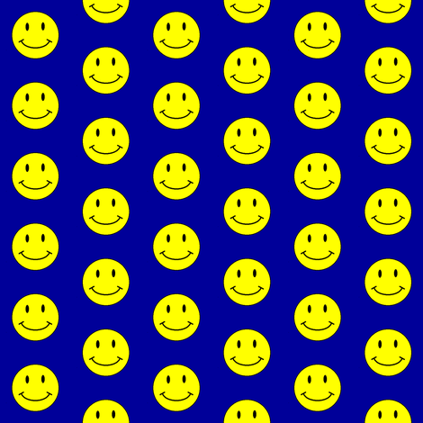 basic-smiley-blue-small fabric by gimpworks on Spoonflower - custom fabric