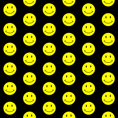 basic-smiley-black-small fabric by gimpworks on Spoonflower - custom fabric