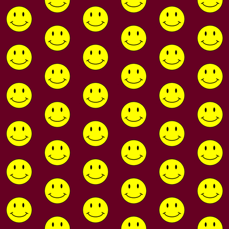 basic-smiley-rust-small fabric by gimpworks on Spoonflower - custom fabric
