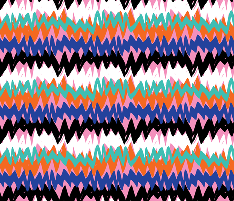 colorful vibration fabric by daria_rosen on Spoonflower - custom fabric