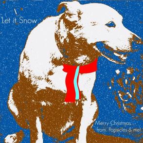 Blue Dog Christmast