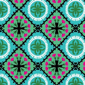 green suzani