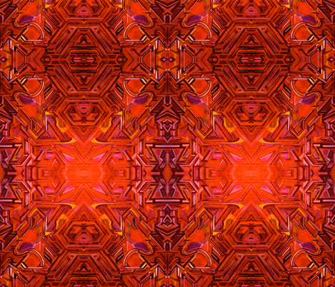 Tiki Fire Gods Graffiti fabric by hrhsf-designs on Spoonflower - custom fabric