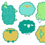 Sheep Society Individual green