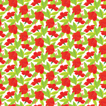 red flowers fabric by daria_rosen on Spoonflower - custom fabric