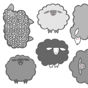Sheep Society Individual gray