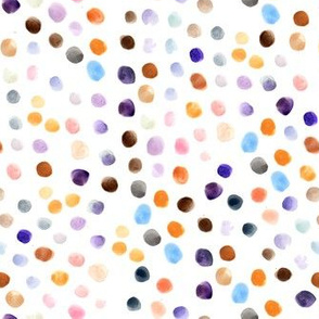 Purple & Brown Mixed Dots