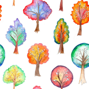 Whimiscal Watercolour Trees