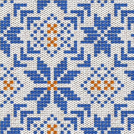 Fair Isle Knitting in Winter Cheer fabric - willowlanetextiles ...
