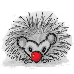 Rudolph the red nosed... Hedgehog?!