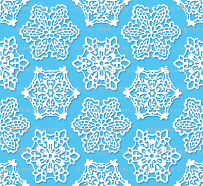Snowflake Lace in Light Blue