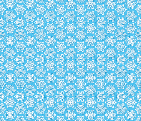 Snowflake Lace in Light Blue fabric by elramsay on Spoonflower - custom fabric